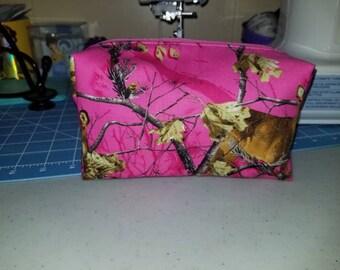 Realtree pink cosmetic bag