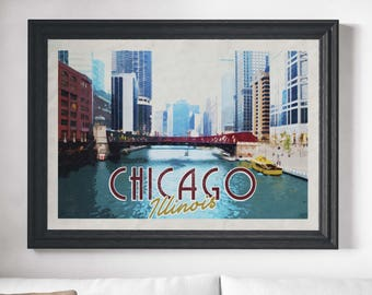 Genial Chicago Art Print, Chicago Prints, Chicago Skyline, Chicago Poster, Chicago  Wall Art
