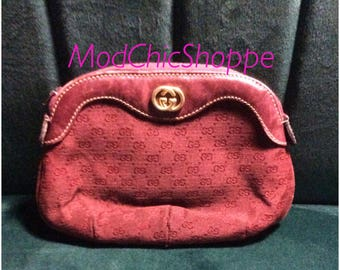 Authentic vintage Gucci Pouch in Red Monogram