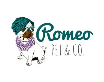 Pets Logo, Dogs Logo, Sketch Logo, Custom Logo Design, 3 Logo Concepts, Business Logo, Royal Logo, Boutique Logo