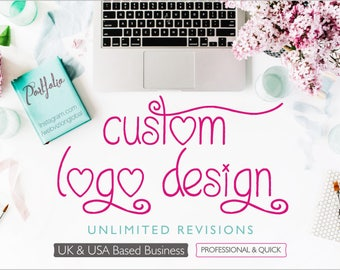 Custom Logo Design, Logo Design, Custom Design Logo, Designer Logo, Ooak Logo, Unique Logo, Business Logo, Royal Logo, Boutique Logo
