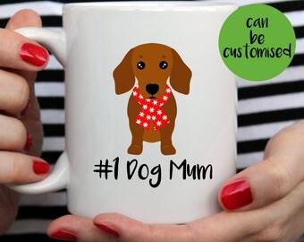 Christmas Dachshund Mug | Cute Mug | Dog Mum | Dog Dad | Dog Mug | Wiener Mug | I Love My Dachshund | Dachshund Mug | Dachshund Gift