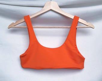 Kyla Bikini Top - Color: Rust -  Womens Swimwear, Women's Bikini, Seamless, Reversible, Swimwear top