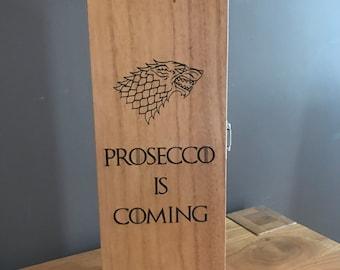 Personalised Wooden Wine Box, Champagne Box, Birthday, Anniversary, Wedding gift