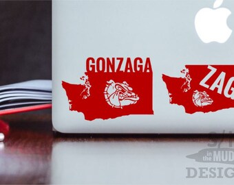 Gonzaga University Zags Permanent & Custom State Vinyl Decal