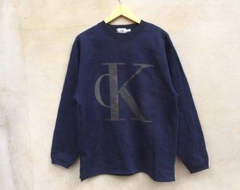 Vintage Calvin Klein Big Logo Medium Sweatshirt