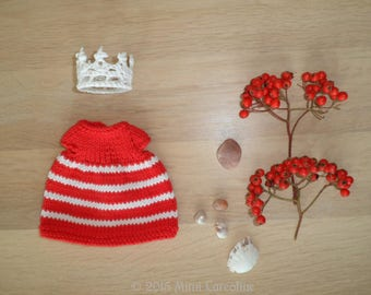 """Fashion Girl - Collection """"my little ' dumb tites""""-red and white"""