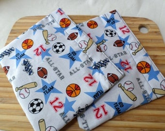 Reusable Snack Bag with velcro closure / In stock and ready to ship / All Sports
