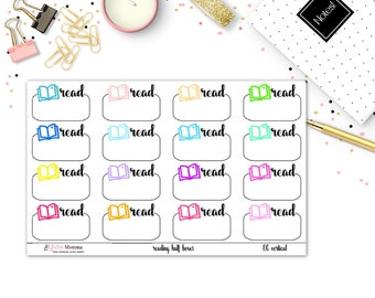 Reading Half Boxes | Functional Planner Stickers