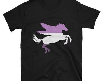 Queer Pride Pegasus Unisex T-Shirt lgbtq lgbt lgbtqipa queer gay transgender mogai