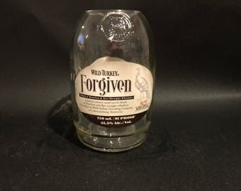 Wild Turkey Candle Forgiven Bourbon WHISKEY BOTTLE Soy Candle.  750ML. Made to Order !!!!!
