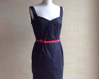 Dress vintage pinup 60's bustier and two belts available (sizes 36-44)