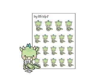 Planner Stickers Dragon Pay The Bills