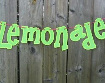 Lemonade banner, lemons, Lemonade stand decor, BBQ signs, food banner,