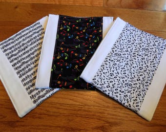 Set of 3 Musical Burp Cloths - Baby Shower Gift