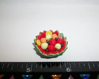Dollhouse Miniature Handcrafted Watermelon Fruit Bowl Dessert Doll House Food 1231