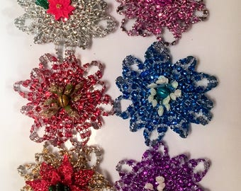 RTS Bling Flower Collar Bows