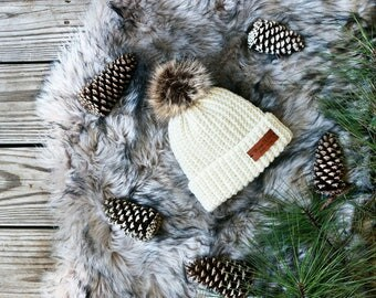 Ribbed hat | Ivory 100% Wool