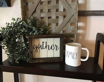 Gather Reclaimed Wood Boxwood Frame Shiplap Sign