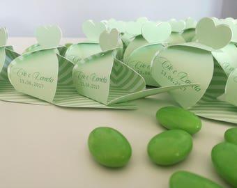 Set 10 boxes for confetti Heartbox