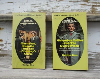 Barnabas Collins and The Gypsy Witch, Barnabas, Quentin and  the Mummy's Curse, 2 Dark Shadows Paperback Books by Marilyn Ross, Vampires