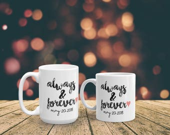 Custom wedding mug, mrs mug, engagement mug, coffee mug, personalized mug, bride to be gift, wedding gift, bride mug, engagement gift