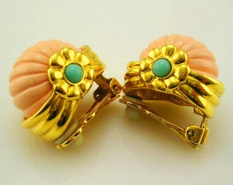 Joan Rivers Shrimp CLIP ON Earrings   1""
