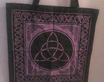 Celtic Knot Tote Bag / Free Crystal Gift with Every Purchase