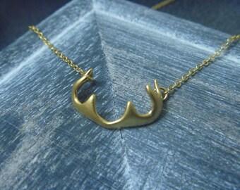 Matt stag necklace