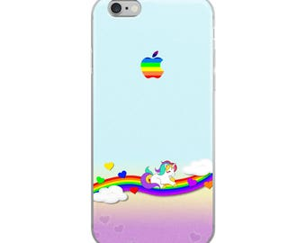 Unicorn Cute Funny iPhone Case - Iphone 7 case - Iphone 8 case - Iphone 7 plus case - Iphone 6 case - Iphone X case