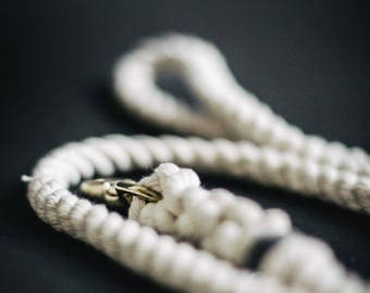 Natural Cotton Rope Lead