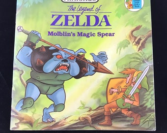 Golden Look Book, 1989 Nintendo The Legend of Zelda; Molblin's Magic Spear