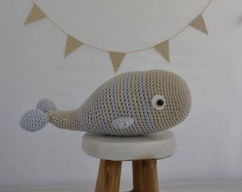 Plush whale crochet 100% handmade