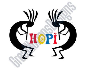 Hopi Indians SVG - HTV - Vinyl Cutting Graphic Art