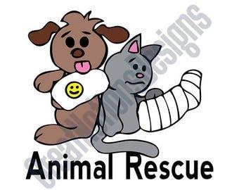 Animal Rescue SVG - HTV - Vinyl Cutting Graphic Art