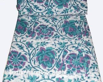 Indian Hand Block Beautiful Print Fabric Dressmaking Running Cotton Block print fabric Garment dress Home decor  Crafts Soft Cambric Fabric