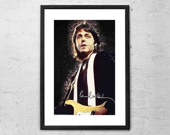 Paul Mccartney - Paul McCarney Print - Paul McCartney Art Print - The Beatles - Beatles - The Beatles Poster - The Beatles Art - Beatles Art