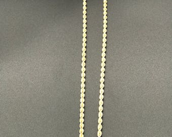 14k yellow gold Rope chain,solid links