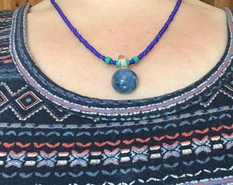 blue swirl necklace