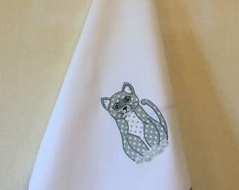 Tea Towel Cat