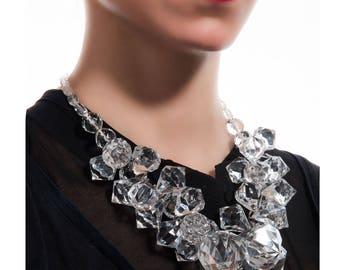 Diamonds are girl's best friends-plexiglass diamonds-necklace-jewelry-elegance-style-chic--design-contemporary