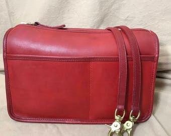Vintage Coach | Red Coach | Shoulder Bag | Made in New York USA