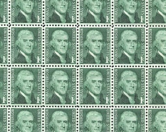 Thomas Jefferson Stamps /10 Unused Stamps Vintage 1960's