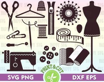 Sewing Digital, Sewing Clip Art, Sewing Svg, Sewing Decal, Sewing Machine Digital, Sewing Silhouette, Sewing Vector, Sewing Machine Clipart