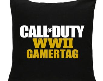 CALL of DUTY ww2 personalised CUSHION , 2017 game