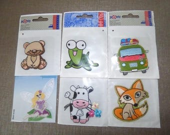 SET OF 6 ASSORTED HOT-MELT EMBROIDERY