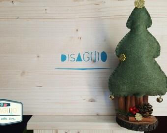 Decorative Christmas Landscape/design/felt/felt/home sweet Home