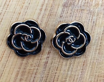 Camellia Chanel Buttons Set of 2