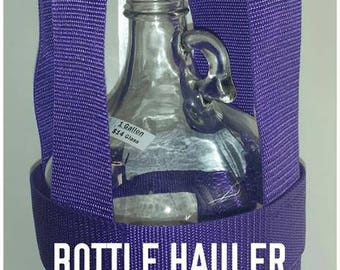 1 gallon water bottle carrier by bottle hauler bottle tote holder glass bottle not included