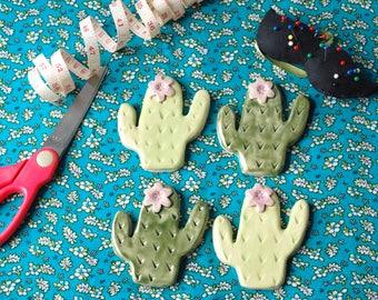 Cactus ceramic sewing pattern weights